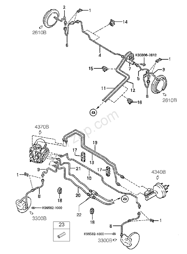 Brake Piping KIA Sephia 95 4door 1995 1997 Europe Engine 1 8 Diagram: 2000 KIA Spectra Wiring Diagrams At Hrqsolutions.co