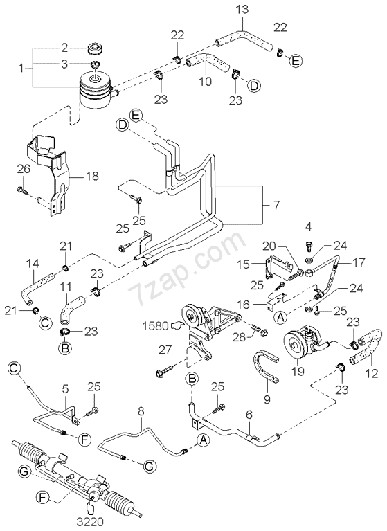 Power Steering System Kia K2700 Ii 02  2002