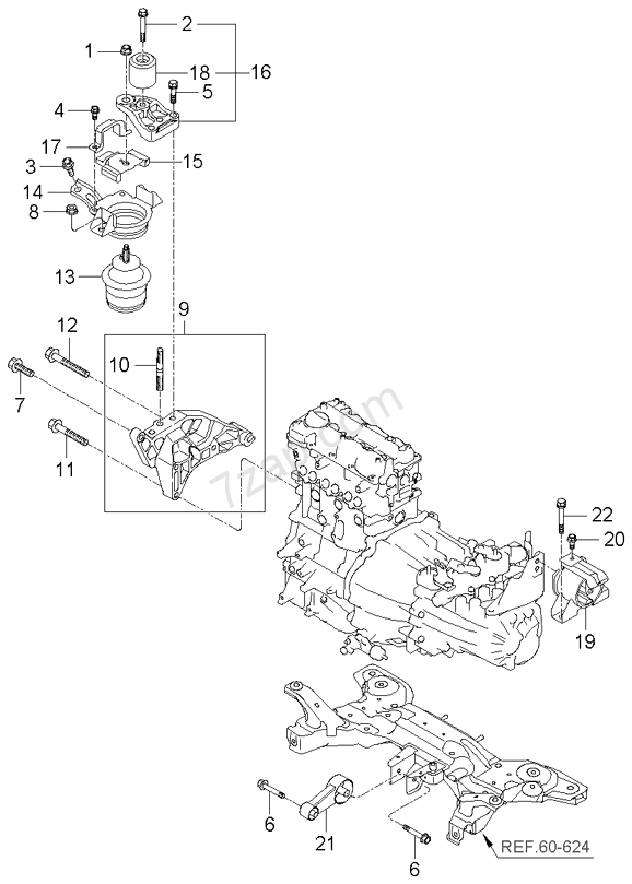 engine & transaxle mounting kia picanto 04 sep 2006 (2004 kia picanto all new kia picanto engine diagram #6