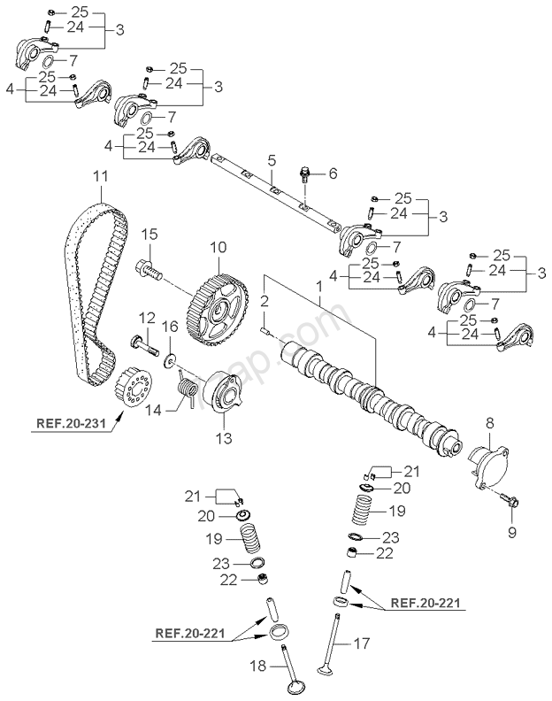 CAMSHAFT VALVE KIA PICANTO 04 SEP2006 20042006 CIS – Kia Picanto Engine Diagram