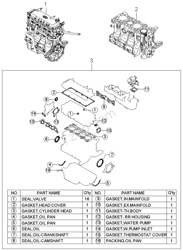 Short Engine Gasket Set KIA Rio 00 20002005 General. Short Engine Gasket Set KIA Rio 00 20002005. KIA. 2005 KIA Rio Engine Diagram Of A Head Gasket At Scoala.co