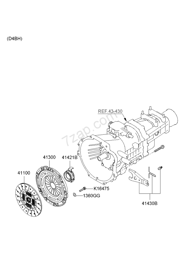 CLUTCH & RELEASE FORK - MANUAL KIA K2700/K2900 04: NOV.2006 ... on dodge alternator diagram, alternator generator, alternator plug diagram, ac compressor wire diagram, alternator parts, alternator replacement, alternator relay diagram, ford alternator diagram, alternator winding diagram, alternator charging system, 13av60kg011 parts diagram, gm alternator diagram, alex anderson alternator diagram, alternator engine diagram, alternator fuse diagram, alternator connector diagram, toyota alternator diagram, car alternator diagram, generator diagram, how alternator works diagram,