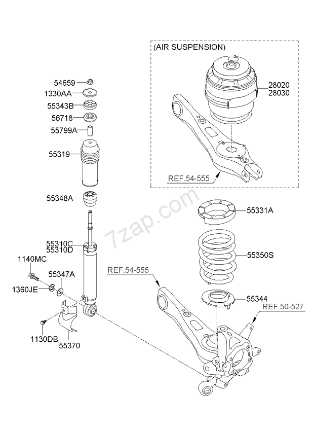 Kia Borrego Air Bag Schematic