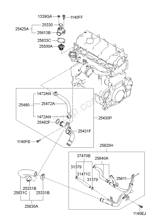 2009 kium optima engine diagram best place to find wiring and 4 Wire Alternator Wiring Diagram coolant pipe hose kia optimamagentis 09 2009
