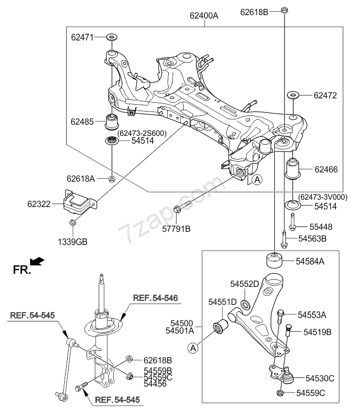 Front Suspension Crossmember Kia Sportage 14  2013