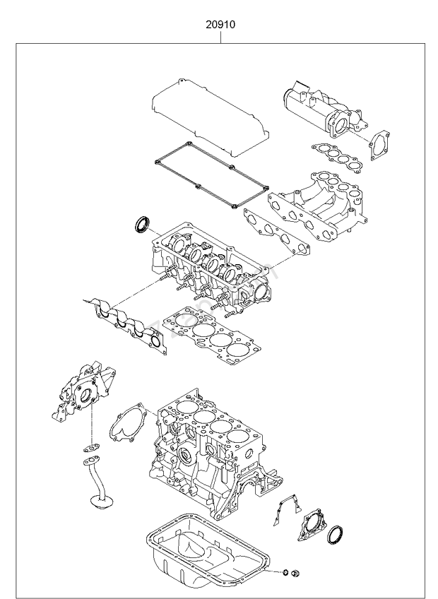 ENGINE GASKET KIT KIA PICANTO 08 2008 General – Kia Picanto Engine Diagram