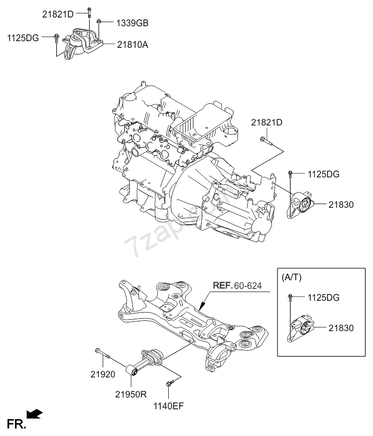 ENGINE TRANSAXLE MOUNTING KIA PICANTO 11 20112015 Middle East – Kia Picanto Engine Diagram